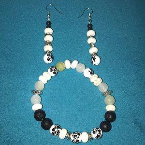 Hand beaded Bracelet set